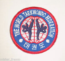 TOPPA RED BADGE THE WORLD TAEKWONDO FEDERATION PATCH WTF WORLD KOREAN KARATE