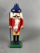 """Gnarly Beard Chipped Up Scummy Loser Nutcracker Carrying a Stick 12 1/2"""" Tall"""