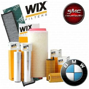 KIT TAGLIANDO 4 FILTRI WIX BMW 1 (E87) 120 d KW 120 anno 2003/11 - 2012/09