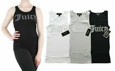 Juicy Couture Tank Top Women's Gothic Crystal Logo Ribbed Sleeveless Shirt