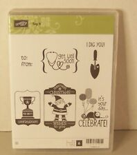 Stampin Up TAG IT Unmounted Stamp Set Birthday Christmas Get Well Congrats