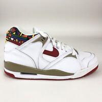 Nike Air Bound 2 Mens Size 9 Shoes White Varsity Red Khaki Mid Retro 318656-161