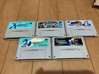 Nintendo Super Famicom SNES Megaman Rockman X X2 X3 7 FORTE set 5 japan