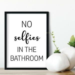 New A4 A5 Home Bathroom Prints Minimalist Wall Funny Art Poster Quality Pictures