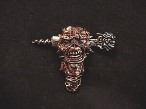 IRON MAIDEN OFFICIAL VINTAGE PEWTER PIN BUTTON BADGE UK IMPORT POKER
