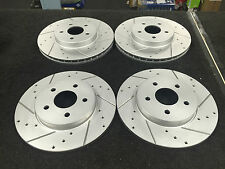 FORD MONDEO MK3 2.2 ST TDCI CROSS DRILLED GROOVED BRAKE DISC FRONT REAR