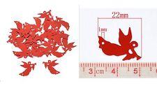 10 ANGIOLETTI in PVC addobbi decorazioni braccialetti natale albero angeli rossi