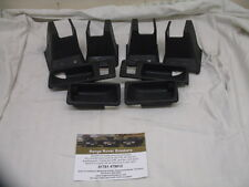 Range Rover P38 Seat Feet Finishers and Door Handle Cups in black - year 2000