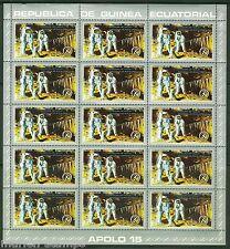 EQUATORIAL GUINEA APOLLO 15 SHEET SET CONTAINING 18 OF THE SAME STAMP
