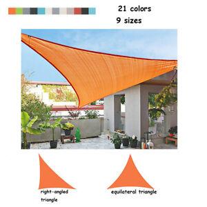 Garden triangle Sun Shade Sail Waterproof Canopy UV Sunscreen Patio Awning Cover