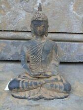 bouddha avec fleur de lotus en bronze pat antique assis sur un socle ...
