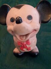 Vintage Walt Disney Mickey Mouse Squeeze Toy Dell Plastics Co Usa