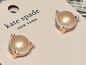 NEW Kate Spade Rise And Shine Blush Pearl Faux Earrings