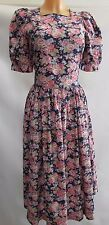 Laura Ashley Vintage Wild Rose and Verbena Summer Tea Dress Size 12 Garden Party