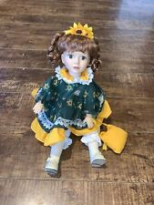 Vintage Musical Box Porcelain Doll Good Condition Moves When Playing