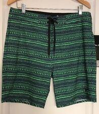 Hurley  Boardshorts Men's Sz 32 Green Blue 18 In New $69