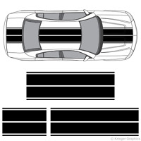 Dodge Charger Dual Rally Racing Stripes 3M Vinyl Double Stripe Decals