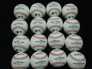 16 MLB Manfred white baseballs 2021 BP