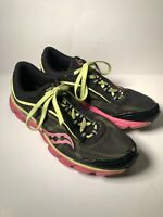 Saucony Virrata Women's size 9 Grid Trail Running Shoes Black Pink Lime EUC