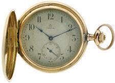 Omega Taschenuhr Pocket watch Savonette 585/14K Gold 1A Werk Kal.17 Ø51mm selten