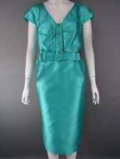 Calf Length V Neck Silk Patternless Dresses for Women