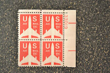 1971US #C78 11c Air Mail - Jet Airliner   Plate Block of 4  UR  Mint NH