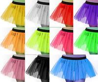 Plus Adult Size Women Tutu Tulle Skirt Petticoat Dance Neon Uv Women Halloween
