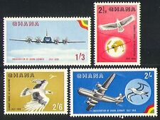 Ghana 1958 Planes/Transport/Birds/Aviation 4v (n32198)