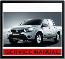 SSANGYONG ACTYON TRADIE SPORTS UTE 2012 REPAIR SERVICE MANUAL IN DVD