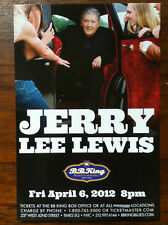 Jerry Lee Lewis ad/flyer for BB. KIng club NYC previous performance 2012