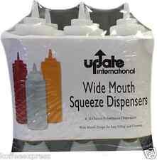 Six 32-Ounce Squeeze Bottles (Sbc 32W) barware condiment holder