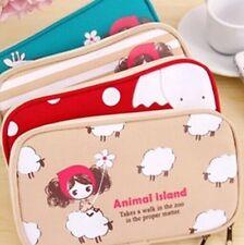 Mini animal Double zipper Pen Bag Makeup Brushes Storage Bag