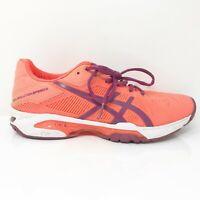 Asics Womens Gel Solution Speed 3 E650N Orange Purple Running Shoes Size 7