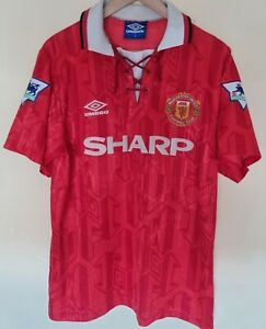 Maillot Manchester United Cantona Taille M 92/93 Rare Legend France