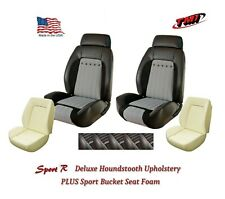 Sport R Deluxe Houndstooth Front & Rear Upholstery + Foam for 1970 Camaro