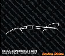 2x car silhouette stickers - for Porsche 917K vintage 1971 Le Mans race car