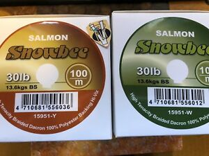 Snowbee Braided Dacron Trout & Salmon Fly Line Backing 20 & 30Lbs 100M Spools