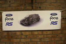 ford focus rs   large pvc banner  garage  work shop man cave classic show