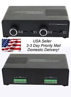 2 Amp x 2 Pair Speaker Selector Switch Switcher Splitter w Volume Control MATRIX