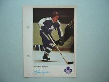 1971/72 TORONTO SUN NHL ACTION HOCKEY PHOTO BRIAN SPENCER ROOKIE SHARP!! 71/72