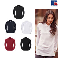 Russell Unisex Classic Cotton Polo Shirt R-569L-0 - Long Sleeve Casual Wear Tee