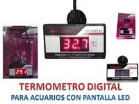 TERMOMETRO LED LCD DIGITAL sumergible a 220v de ACUARIO CALIDAD 0 a 60º pecera