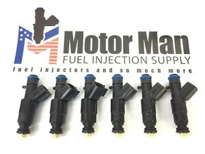 UPGRADE 4 Hole New Bosch Fuel Injector set (6) JEEP 4.0L 1999-2004