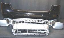 AUDI A5 8T Original Stoßstange hinten schwarz Kühlergrill Spiegelkappen silber