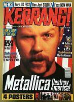 Metallica Destroy America KERRANG! March 1997 Henry Rollins W.A.S.P Reef