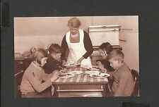 Nostalgia Postcard Children at Lunch Walsgrave Colliery School Coventry  1952