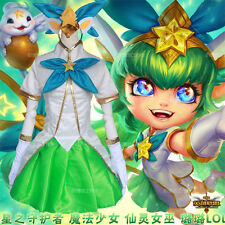 New  Hot Game League of Legends Lulu LOL Cosplay Game Perform Costume Dress