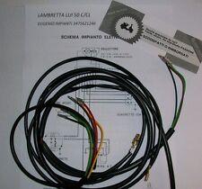 IMPIANTO ELETTRICO ELECTRICAL WIRING LAMBRETTA LUI 50 C/CL CON SCHEMA ELETTRICO