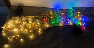 "2 Bethlehem Lights 36"" Glitter Sprigs Twig Branch GOLD -LED clear/multi Color"