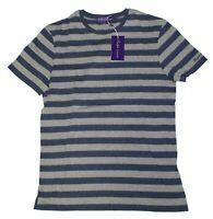 Ralph Lauren Purple Label Short Sleeve Striped Navy Cotton Jersey Tee T Shirt